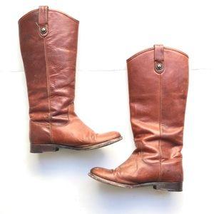 🆕Frye Melissa Button Riding Boots Cognac